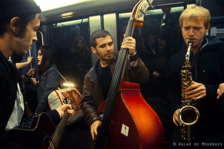 Déambulation dans le métro avec Letrèfle, Pit et Vivien NOV 2011 ©Aglaé De Mourgues