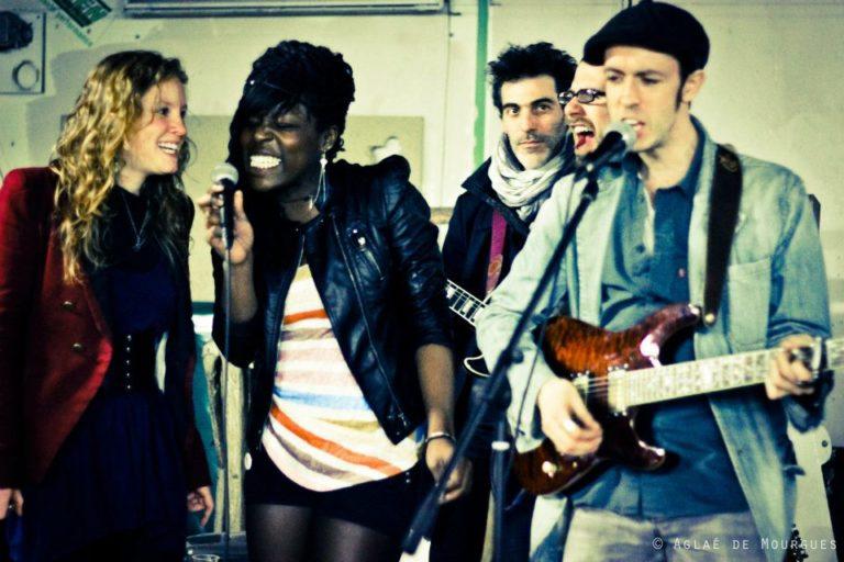Rouge Rouge Jam  avec Emji, Mary May, Pit et Letrèfle @La Clinique des Arts bis AVR 2014 ©Aglaé De Mourgues