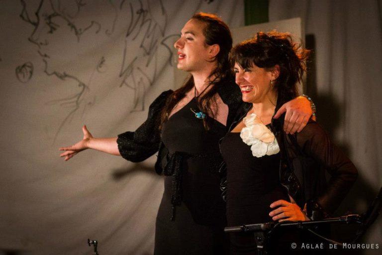"""Cabaret Comique International """"La Puta Calle"""" avec les fondateur de cet événement Susana Alcantud et Balthazar Gaulier pour la 1eère représentation @La Clinique Des Arts Bis SEPT 2012 ©Aglaé De Mourgues"""